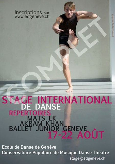 ecole de danse de gen ve stage international d 39 ete du 17 au 22 ao t 2015. Black Bedroom Furniture Sets. Home Design Ideas